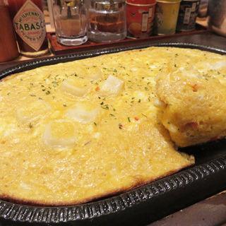 明太チーズもち鉄板(博多野菜巻串屋 鳴門)