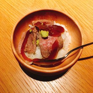 極上サーロインのひとくち牛丼(THE KINTAN STEAK)