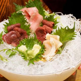 肉刺し四種盛り合わせ(博多筑紫口 肉寿司)