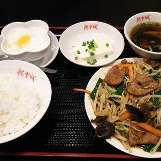 レバーニラ炒め+冷や奴(阿里城 川崎ルフロン店)