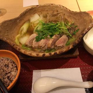 せりと鴨の出し汁鍋定食(大戸屋 新宿東口中央通り店 )