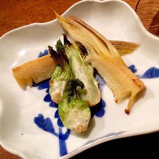 筍と蕾菜のオーブン焼(コノ花まひろ )