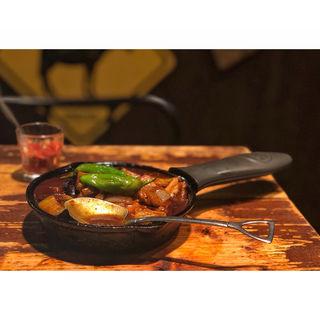 茄子と豚肉の旨味噌炒めカレー