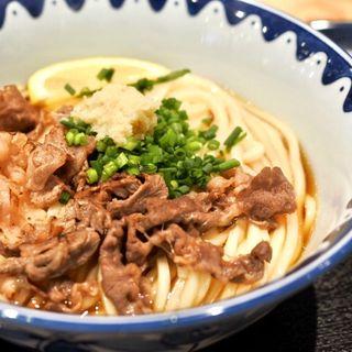 炙り牛肉ぶっかけ(き田たけうどん)