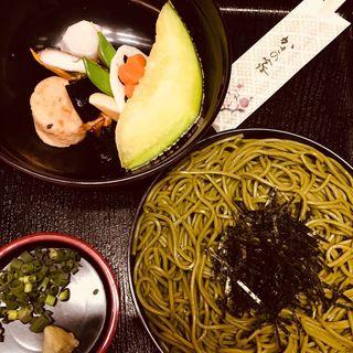 茶そば定食(かさの家)