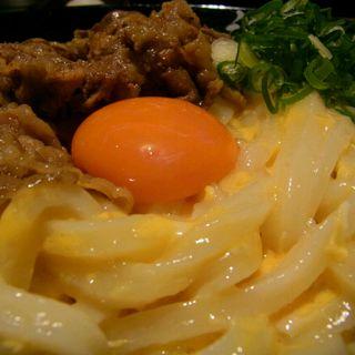 肉釜玉(うどん居酒屋 江戸堀)