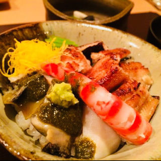 鮑と穴子と才巻海老ご飯(料理 澤)