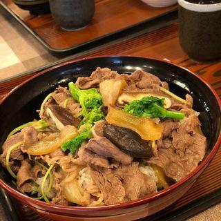 すき焼き丼(牛丼)(はり重カレーショップ (ハリジュウカレーショップ))