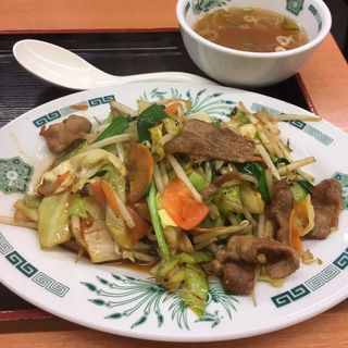 肉野菜炒め定食(日高屋 高田馬場駅前店 )