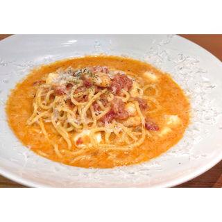 エビとモッツァレラチーズのトマトクリームスパゲティ(ストリート パスタ カンパニー (STREET PASTA COMPANY))