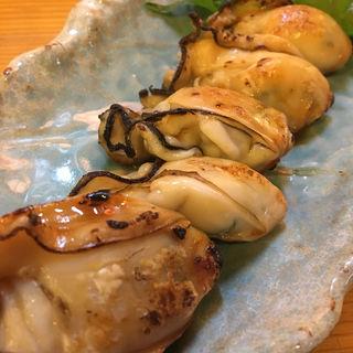 ぷりぷりの牡蠣の醤油焼き