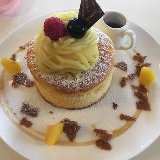 プチモンブランのパンケーキ(カフェ・ド・ブルー (Cafe de Blue))