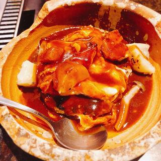 煮込みハンバーグ(お好み焼き・鉄板焼き居酒屋みのる )