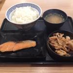 豚鮭定食ご飯大盛
