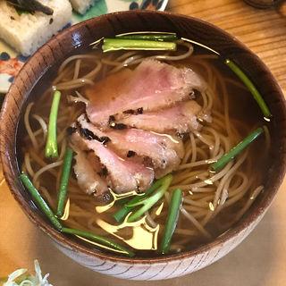 鴨蕎麦とこんにゃく寿司(文治郎)