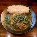 インド風カレー(牛すじ+野菜)
