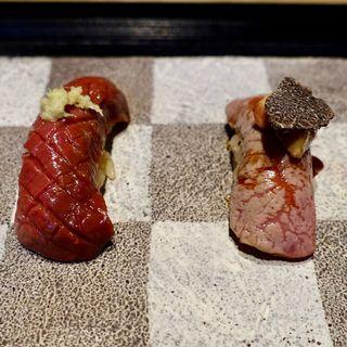 肉寿司コース(肉割烹 KINTAN コレド室町)