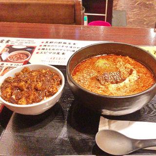 辛口担々麺+ミニ麻婆豆腐