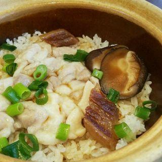 干しぶたバラ肉としいたけと鶏肉釜飯(南粤美食)