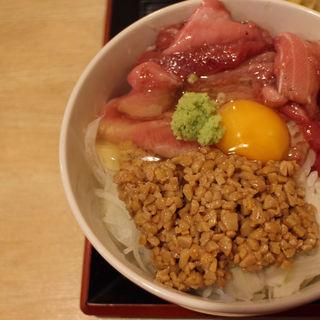 まぐろナットウ丼定食(とり将 )