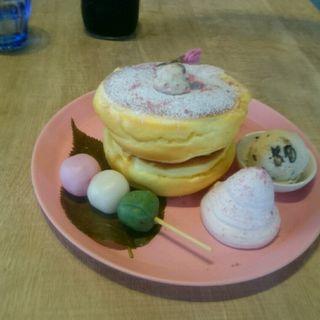 桜香る春の和パンケーキ(3 STARS PANCAKE (スリースターズパンケーキ))