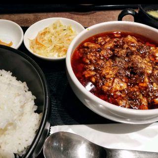 麻婆豆腐定食(1カラ~4カラ)(炎麻堂 赤坂店 (エンマドウ))