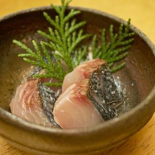 ヒノキ炙りの五島鯖(ひなかの)