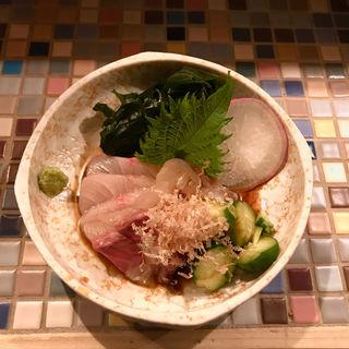 白身魚の三杯酢和え(ご飯屋 楽多)