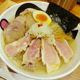 煮干しと蛤の塩そば(小麦蕎麦処 四天王寺 五常)