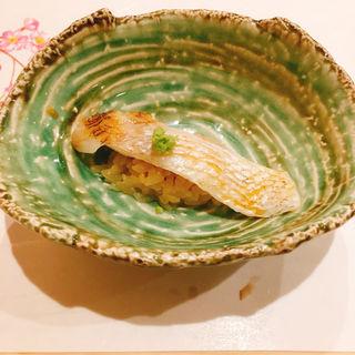 くえの蒸寿司(鮨ばんど)