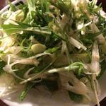 青唐辛子と水菜とネギのサラダ