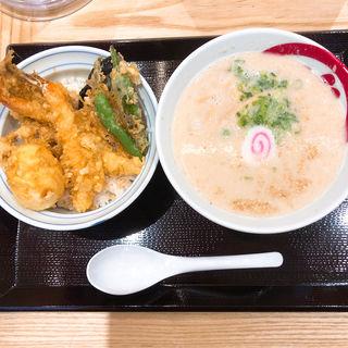 天丼とらぁ麺(天丼・らぁ麺 ハゲ天)