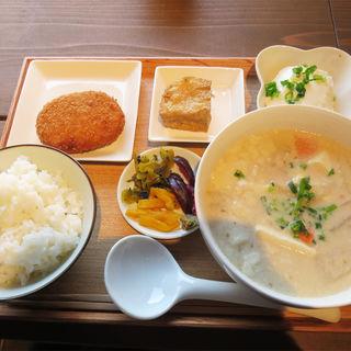 豆汁定食(豆藤・加藤本店)