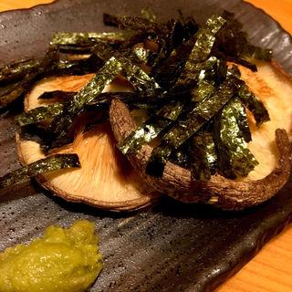 シイタケ塩焼き(あじ)