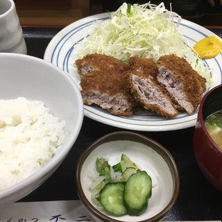かつ(ヒレ)定食(とんかつ不二)
