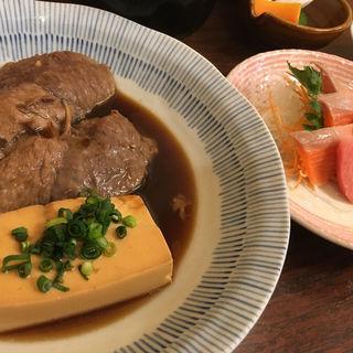 マグロホホ煮付け定食+刺身(かとう )