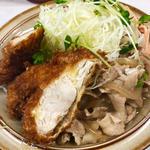 チキンカツ・しょうが焼きライス(キッチン南海 神保町店 (キッチンナンカイ))