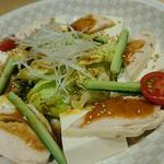 豆富と鶏のサラダ