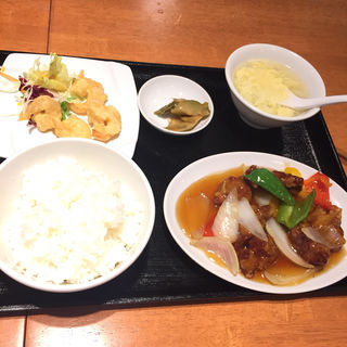 茶美豚の酢豚セット(中国酒家 朝陽閣 天満橋 )