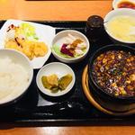 土鍋麻婆豆腐セット(中国酒家 朝陽閣 天満橋 )