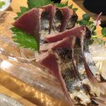 カツオ刺し(塩たたき)(銀座魚勝 (GINZA UOKATSU))