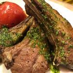 子羊と春野菜のソテー
