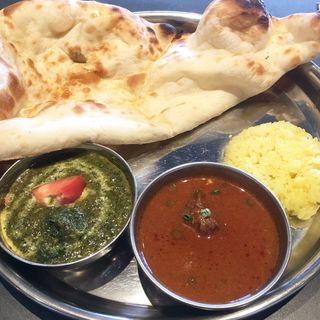 ダブルカレー&ナンセット(インド料理ムンバイ アクアシティお台場店)