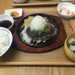 和風ハンバーグ定食(しげのや食堂)