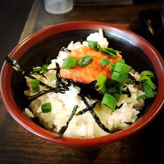 博多かねふくの明太子ご飯(三ツ矢堂製麺 中目黒店 (【旧店名】フジヤマ製麺))