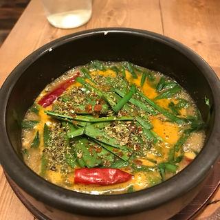 ニラと親鳥のスープカレー(Spice&Sweets KAJU)