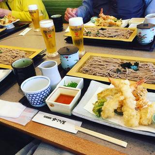 天ざると春の素材の天ぷら盛り合わせ(かごの屋 森小路インター東店 )