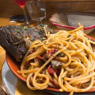 マハタのスパゲティ(メゼババ )