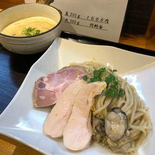 濃厚塩つけ麺【牡蠣とアサリと鶏白湯と】(麺処 飯田家)