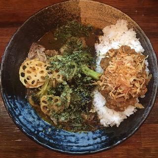 あいがけ 牛スジ+野菜(カレーノトリコ )